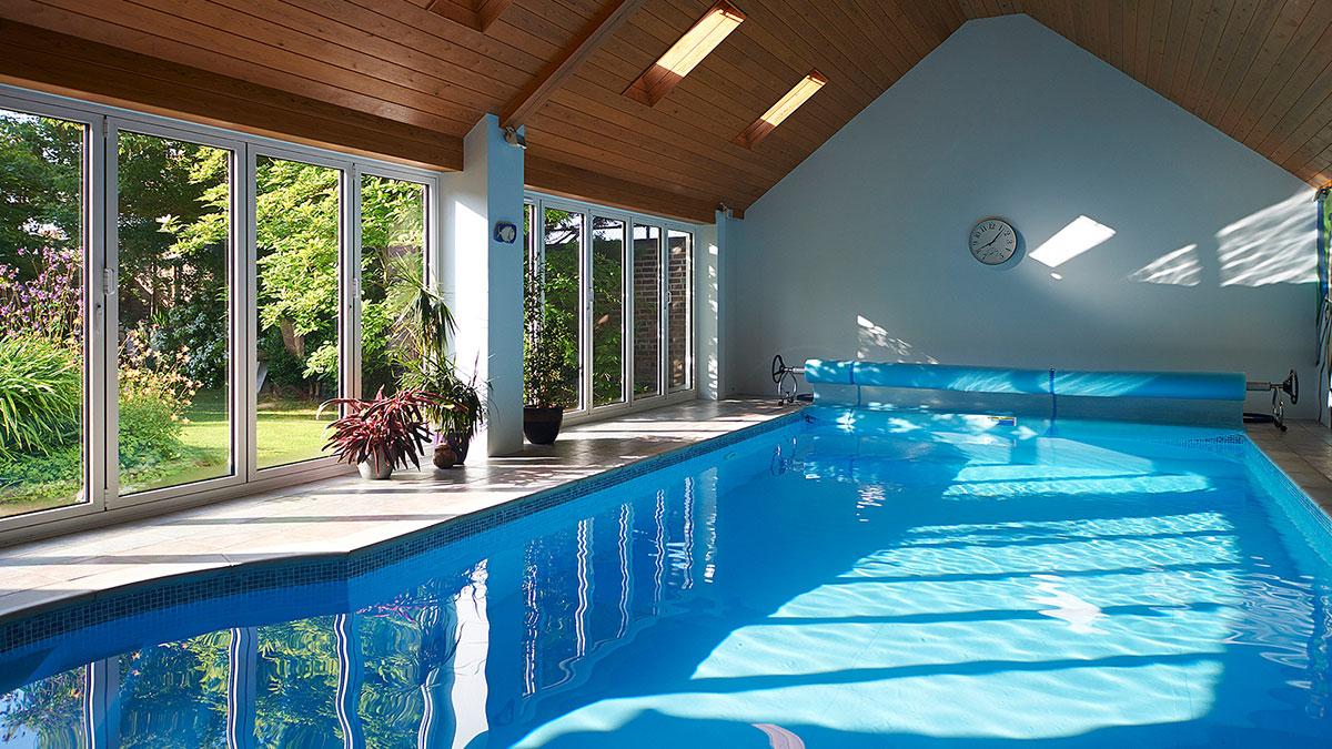 folding door in pool area