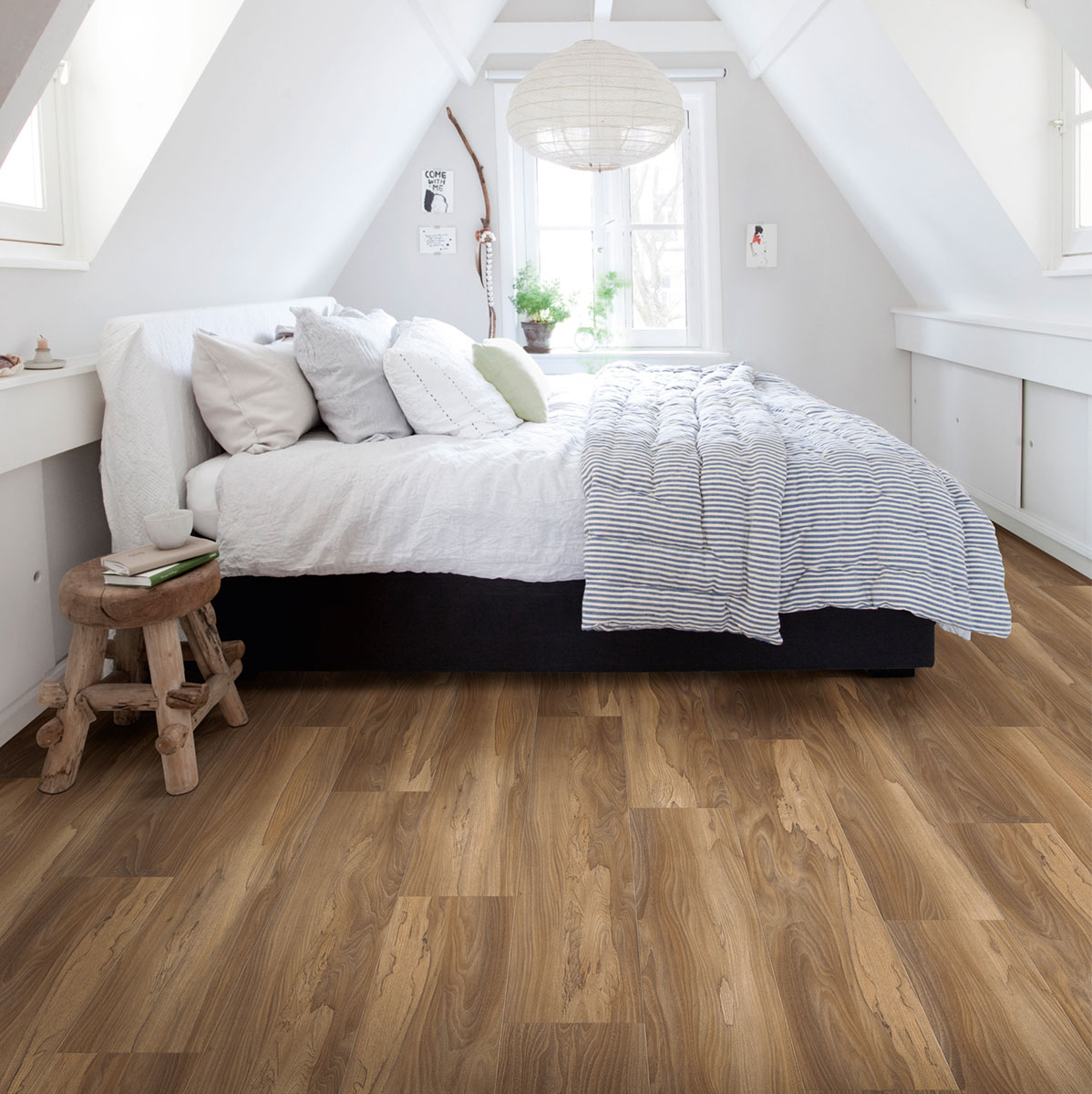 Luxury Vinyl Flooring in a bedroom