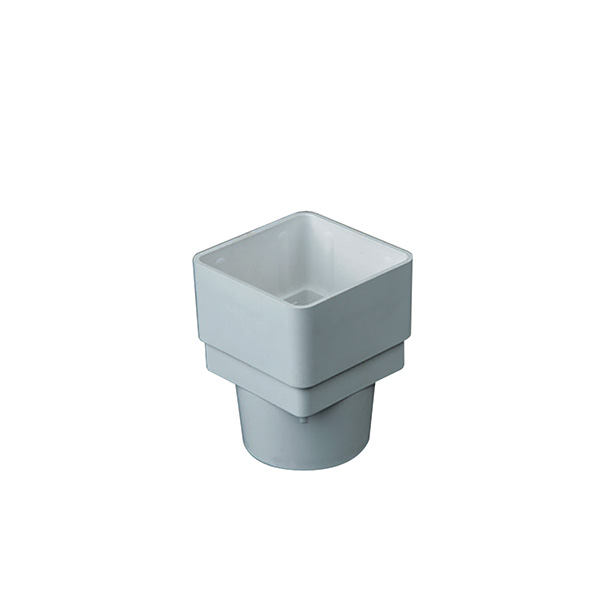 Square to Round Adaptor for rainwater downpipe