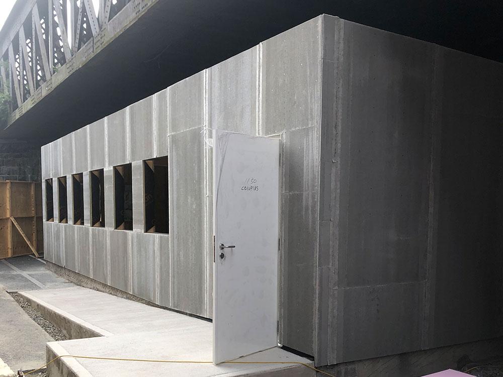 External rendering of TEK panel walls
