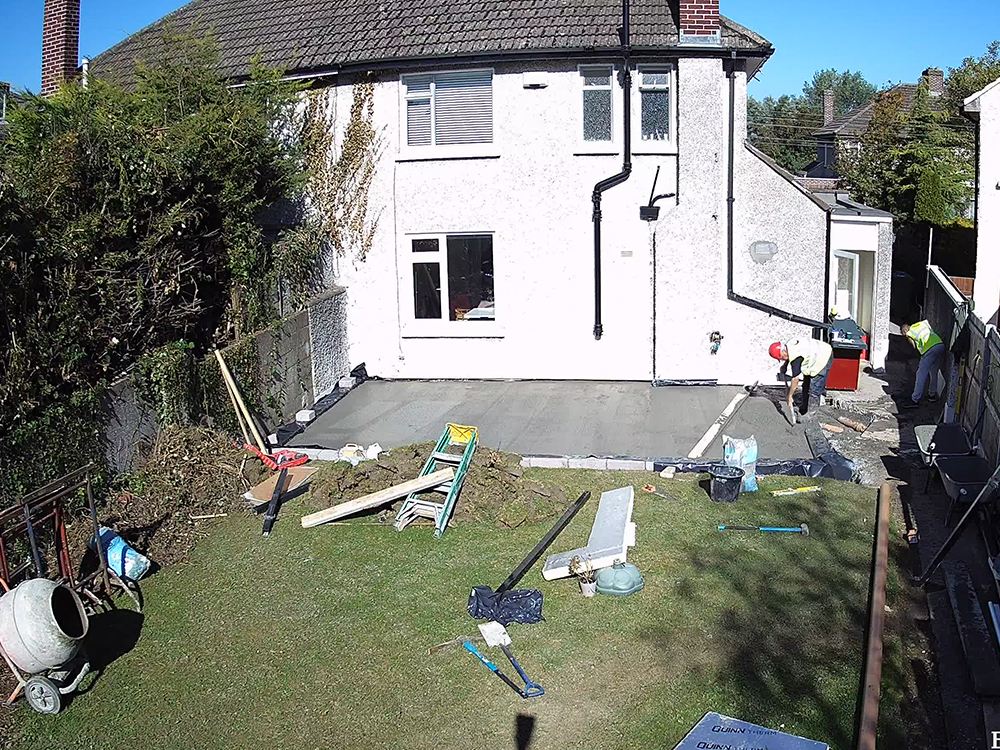 Guardian Home Extension - foundations laid