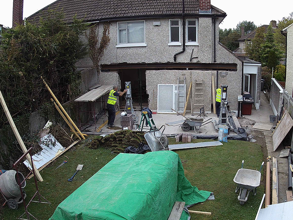 Guardian Home Extension - beam fixed into place