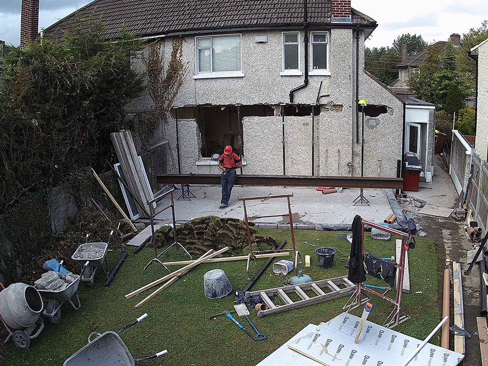 Guardian Home Extension - space for beam made, and beam ready