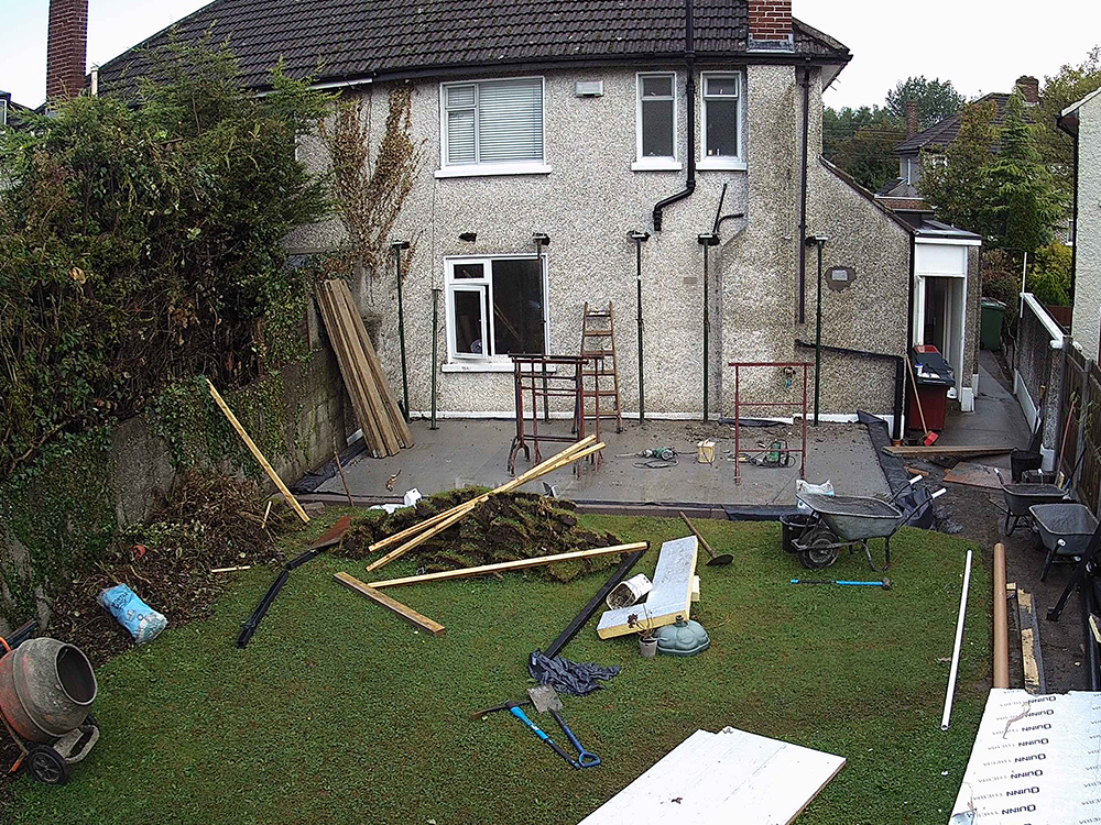 Guardian Home Extension - supports in, ready for wall removal