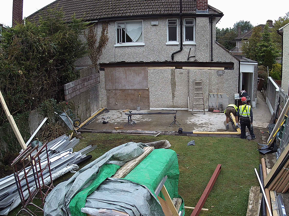 Guardian Home Extension - preparation for walls to be erected