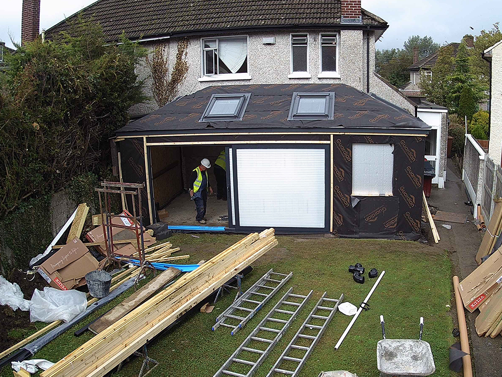 Guardian Home Extension Dublin - sliding door glass fitted
