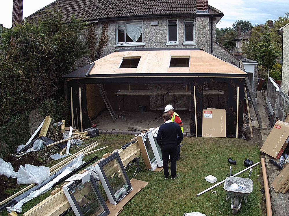 Guardian Home Extension - roof boarded