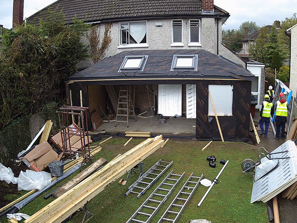 Guardian Home Extension Dublin - Velux roof windows complete