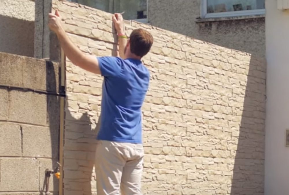 How to install garden wall cladding